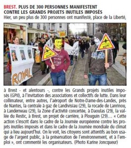 Le Télégramme 8-12-2013 Page Bretagne