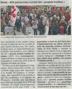 OF 2013-12-08 Brest - 400 personnes contre les projets inutiles (Page Finistère)