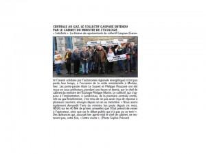 Le Télégramme 10-01-2014 (Page Bretagne)