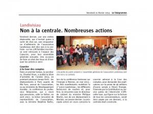 LT 21-02-2014 Non à la centrale-Nombreuses actions (page locale Landivisiau)