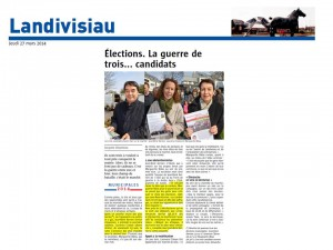 Le Télégramme 27-03-2014 Elections. La guerre de trois...candidats