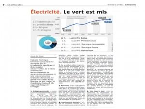 Le Télégramme 25-04-2014 (Page Economie)