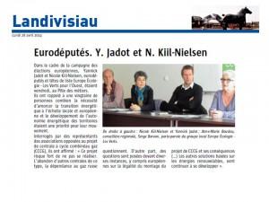 Le Télégramme 28-04-2014 (Page Landivisiau)