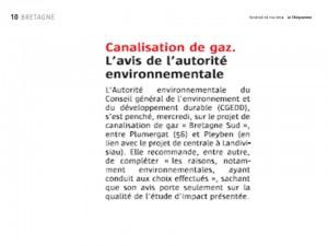 Le Télégramme 16-05-2014 (Page Bretagne)
