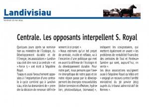 Le Télégramme 16-05-2014 (Page Landivisiau)
