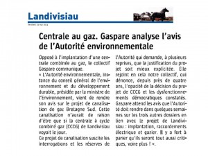Le Télégramme 23-05-2014 (Page Landivisiau)