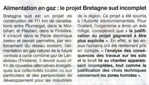 Ouest France 16-05-2014 (Page Bretagne)