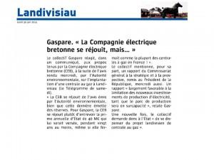 Le Télégramme 30-06-2014 (Page Landivisiau)