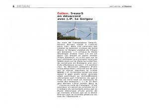 Le Télégramme 7-08-2014 (Page Bretagne)