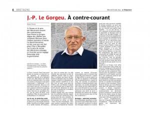 Le Télégramme 6-08-2014 (Page Bretagne)