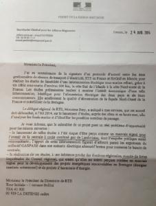 1 ère partie du courrier du préfet de Région Bretagne