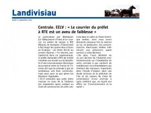 Le Télégramme 11-09-2014 (Page Landivisiau)