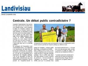 Le Télégramme 13-09-2014 (Page Landivisiau)
