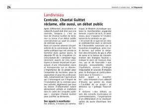 Le Télégramme 17-10-2014 (Page landivisiau)