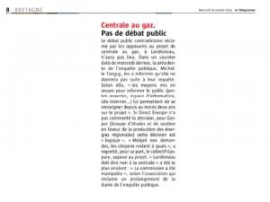 Le Télégramme  29-10-2014 (Page Bretagne)