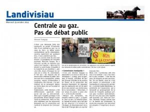 Le Télégramme 29-10-2014 (Page Landivisiau)