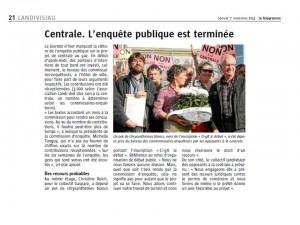 Le Télégramme 1-11-2014 (Page Landivisiau)