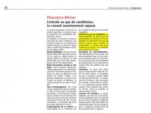 Le Télégramme 9-11-2014 (Page Plounéour-Ménez)