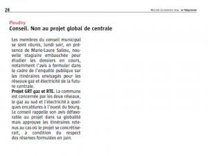 Le Télégramme 19-11-2014 (Page Ploudiry)