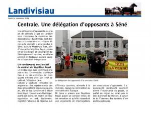 Le Télégramme 24-11-2014 (Page Landivisiau)