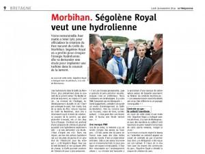 Le Télégramme 24-11-2014 (Page Bretagne)