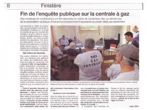 Ouest France 1-11-2014 (Page Finistère)