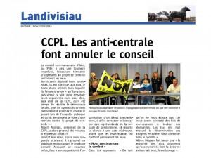 Le Télégramme 12-12-2014 (Page Landivisiau)