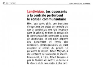 Le Télégramme 12-12-2014 (Page Bretagne)