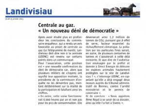 Le Télégramme 15-01-2015 (page Landivisiau)