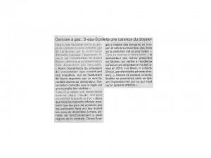 Ouest France 14-01-2015 (Page Landivisiau)