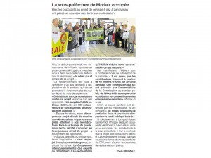 Ouest France 24-01-2015 (Page Morlaix)