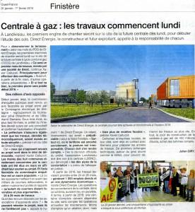 Ouest France 31-01-2015 (Page Finistère)