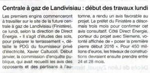 Ouest France 31-01-2015 (Page Bretagne)