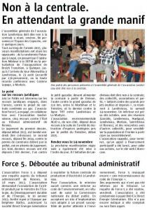 Le Télégramme 13-10-2015 (Page Landivisiau)
