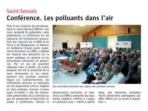 Le Télégramme 5-10-2015 (page Saint-Servais)