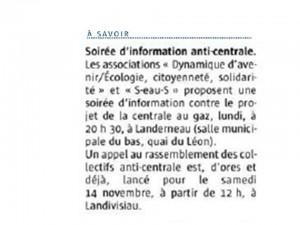 Le Télégramme 9-10-2015 (page Landivisiau)