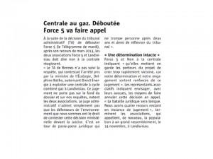 Le Télégramme 15-10-2015 (Page Landivisiau)
