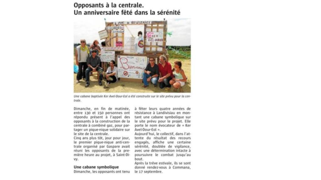 Le Télégramme 06-06-2016 (Page Landivisiau)