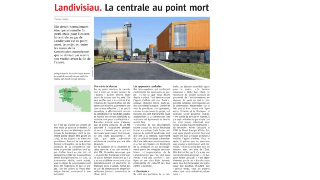 Le Télégramme 17-06-2016 (Page Bretagne)