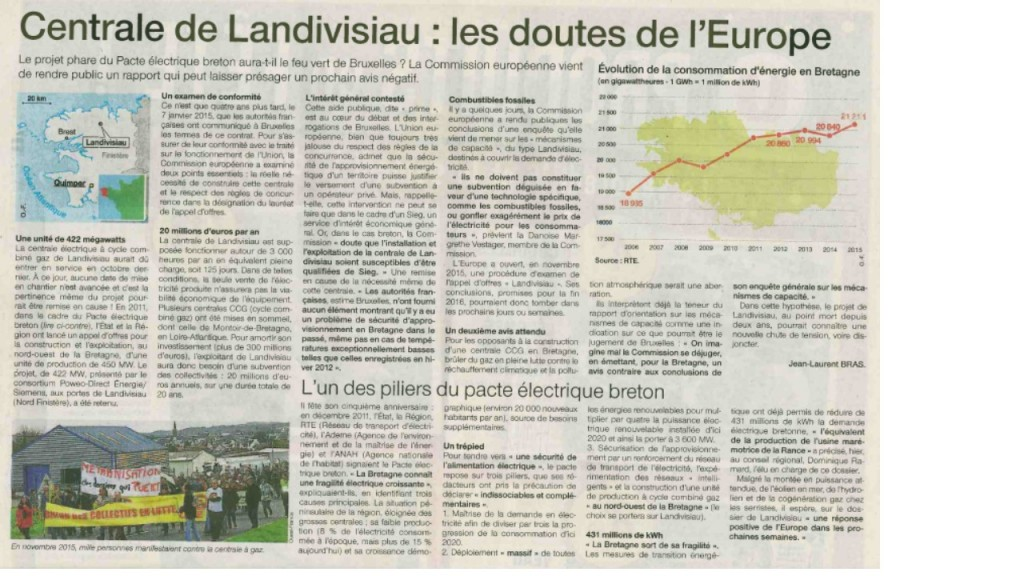 Ouest-France 17-12-2016 (Page Bretagne)