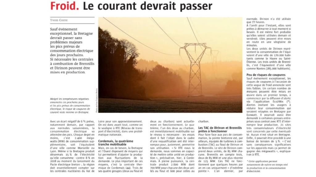 Le Télégramme 18-01-2017 (Page Bretagne)