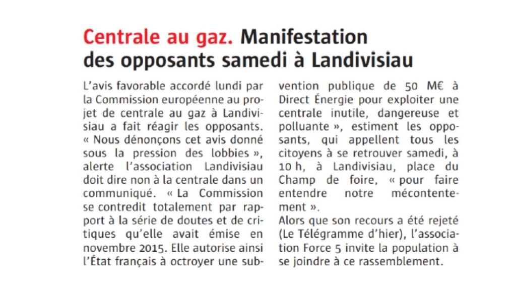 Le Télégramme 17-05-2017 (Page Bretagne)