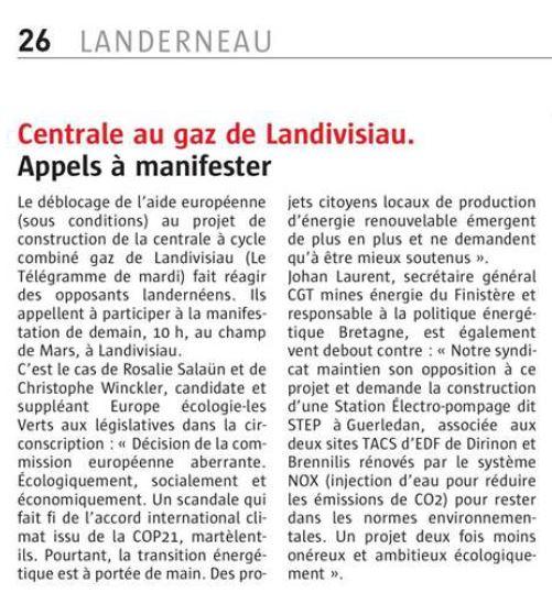 Le Télégramme 19-05-2017 (Page Landerneau)