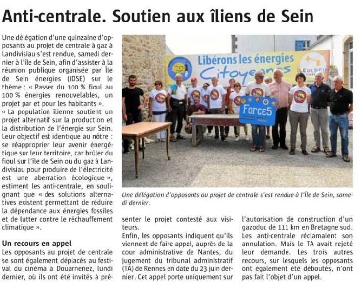 Le Télégramme 25-08-2017 (Page Landivisiau)