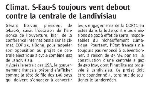 Le Télégramme 07-11-2017 (Page Landivisiau)