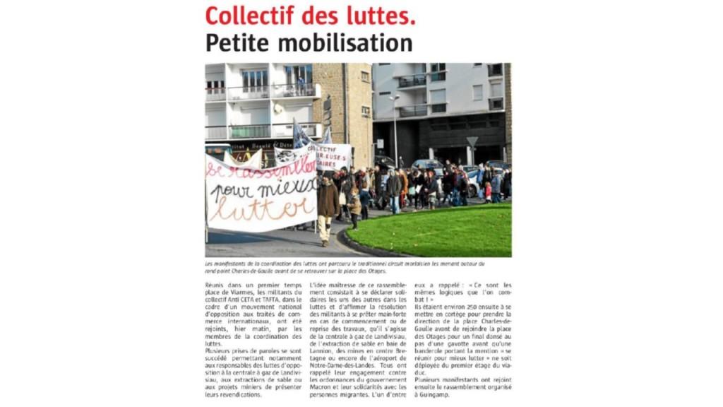 Le Télégramme 19-11-2017 (Page Morlaix)