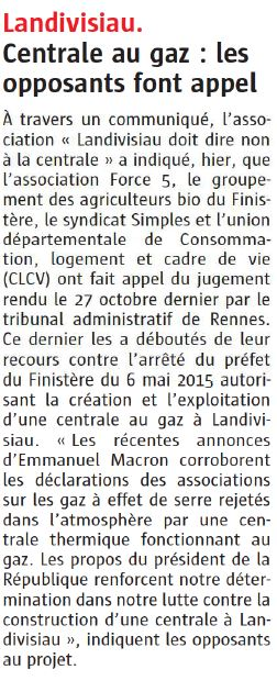 Le Télégramme 22-12-2017 (Page Bretagne)