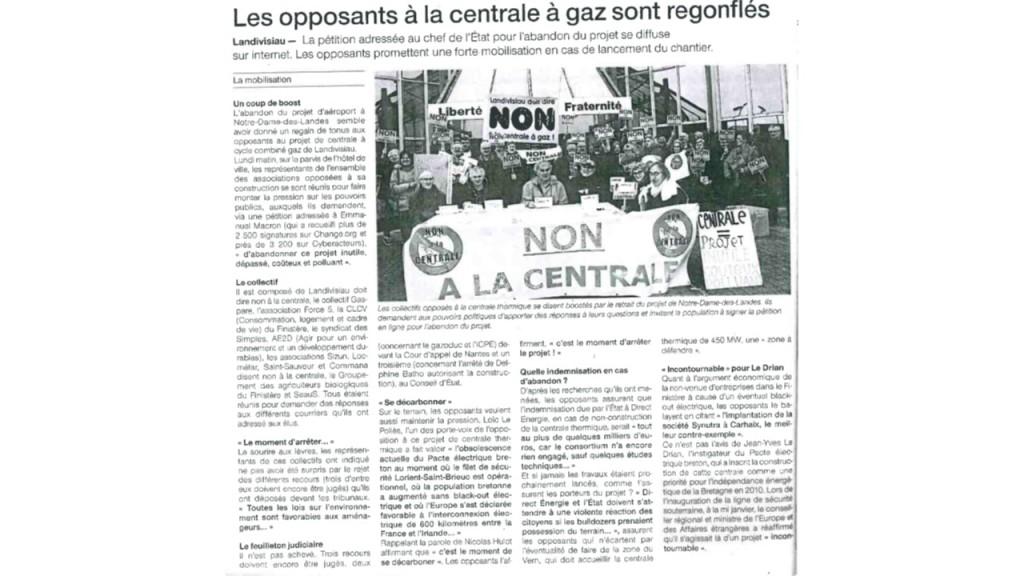 Ouest France 30-01-2018 (Page Landivisiau)