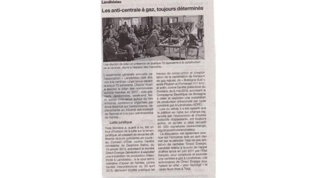 Ouest France 25-05-2018 (Page Landivisiau)