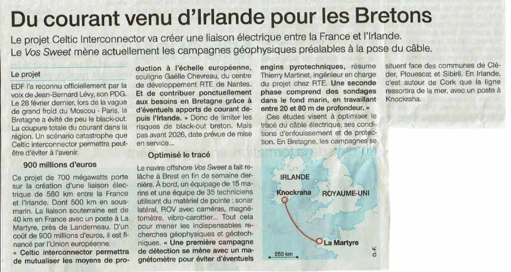 Ouest France 19-06-2018 (Page Bretagne)